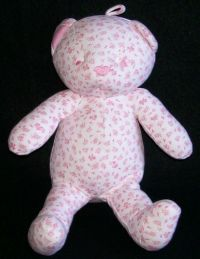 Amy Coe BLOSSOM Bear Pink & White Lovey Plush