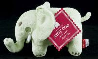 Amy Coe MOD (Peanut) Baby Green Elephant Plush Baby Lovey