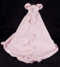 Angel Dear Pink Mouse Mousie Plush Lovey Security Blanket