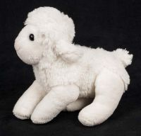 Antics White Sheep Lamb Baby Lovey Plush with Sounds Toy