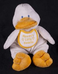 Baby Ganz Duck Mommys Little Sweetie Plush Lovey Rattle