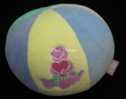 BARNEY for Baby Soft Plush CHIME BALL Infant Toy