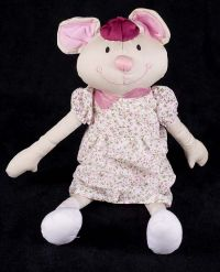 Bawi Mouse Girl Doll Plush Lovey