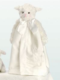 Bearington Collection BLESSED Lamb Snuggler Lovey White