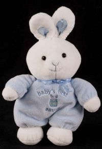 Carters Bunny Rabbit Babys First Easter Plush Lovey Rattle