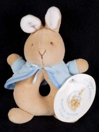 Eden Beatrix Potter My First Peter Rabbit Baby Rattle Ring Plush Lovey