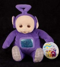 "Eden Teletubbies ""Tinky Winky"" Plush Stuffed Animal Bean Toy"