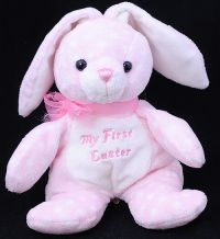 My First Easter Pink Polka Dot Bunny Rabbit Plush Lovey