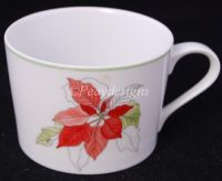 Block Spal POINSETTIA Mary Lou Goertzen COFFEE MUG - NEW
