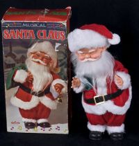 B Toy Musical Animated Santa Claus Wind Up Doll