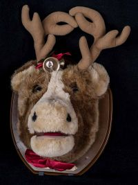 Big Buck Singing Cow Trophy Head Mount Animated Christmas Plush See VIDEO