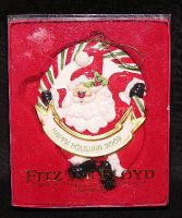 Fitz & Floyd 2003 Holiday SANTA Christmas Ornament NEW