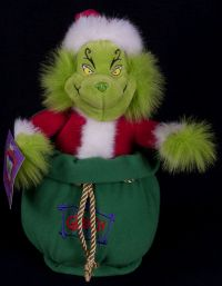 Beverly Hills Teddy Bear Co GRINCH Christmas Animated Singing Plush SEE VID