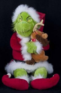 "Beverly Hills Grinch Who Stole Christmas 24.5"" Grinch with Max Plush"