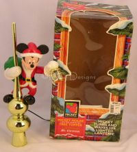 mr christmas animated lighted mickey mouse tree topper - Disney Christmas Tree Topper