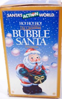 Kurt Adler Christmas Bubble Blowing Santa Ornament + Box Vintage 95