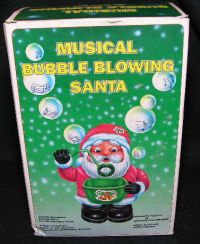 MUSICAL BUBBLE BLOWING SANTA Christmas Ornament