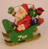 7Up SEVEN UP Christmas ORNAMENT #2 1992