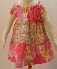Baby Lulu ETCHED ROSE Dress Girls Sz 9 Months