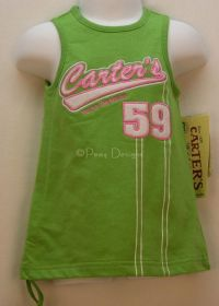 Carters WATCH THE WEAR Green Play Dress Sz 6-9 mo NWT