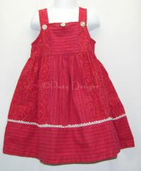 CHICKEN NOODLE Fall Red Dress Sz 4T