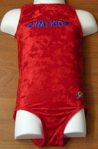 GYMKIDS Gymnastics Red Dance Leotard Girls MEDIUM