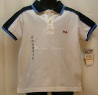 LE TIGRE Blue & White Classic Polo Shirt Boys 3T - NEW