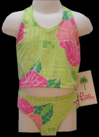 LILLY PULITZER 2pc ARIELLE Swimsuit Sz Girls 4 NWT