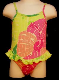 LILLY PULITZER Floral Hibiscus Swimsuit Sz 6-12mo NWT