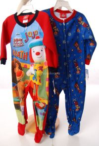 Jojo's Circus Flame Resistant Sleepwear Footed Sleeper Pajamas Set of 2