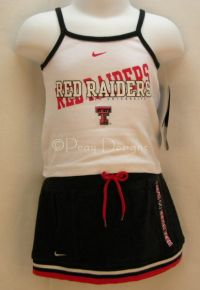 Texas Tech U. Nike 2pc CHEER Outfit Infant Sz 6 9 M