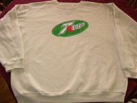 7UP Seven Up Logo Sweatshirt Sz X-Large - NEW