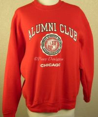 Chicago ALUMNI CLUB Red Bar Sweatshirt Sz Large - NEW