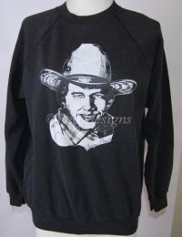 GEORGE STRAIT Black Sweatshirt Sz Large - Vintage