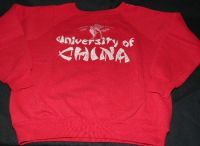 UNIVERSITY OF CHINA Red Sweatshirt Sz Medium - VINTAGE