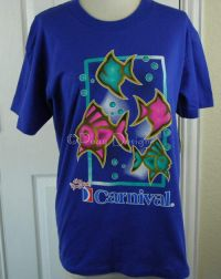 "Carnival Cruise Ship ""The Fun Ship"" Fish Tshirt XL - NEW"