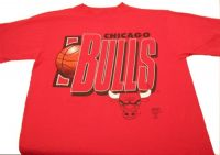 CHICAGO BULLS NBA Basketball Tshirt Sz Large - Vintage
