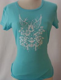 Hurley Intl EAGLE Aqua Blue Sofety Tshirt Sz L - NEW