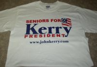 Seniors for JOHN KERRY Presidential Tshirt Sz Medium