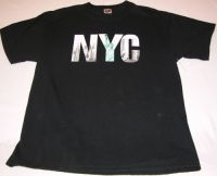 New York City World Trade Center Towers Statue of Liberty NYC Black Tshirt