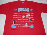DEFINITION OF A REPUBLICAN Tshirt Sz Medium