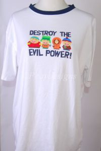 South Park DESTROY THE EVIL POWER Tshirt Sz L XL