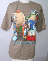 South Park SCREW THIS I'M OUTTA HERE Tshirt Sz Large