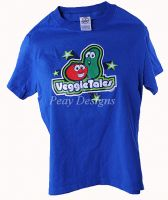 Veggie Tales LARRY & BOB Tshirt Youth Sz L NEW