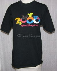 Walt Disney World 2000 Black Tshirt Sz Medium