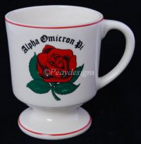 ALPHA OMICRON PI - AO - Sorority Red Rose Coffee Mug