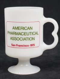American Pharmaceutical Assoc. San Francisco 1975 Dow Milk Glass Coffee Mug