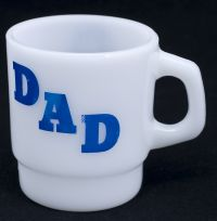 Anchor Hocking DAD Stackable Milk Glass Coffee Mug