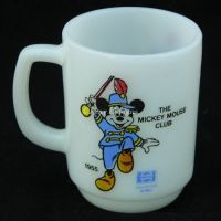 Anchor Hocking MICKEY MOUSE CLUB Pepsi Milk Glass Mug
