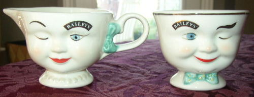Baileys Boy & Girl Sugar Creamer Anthropomorphic Set 96